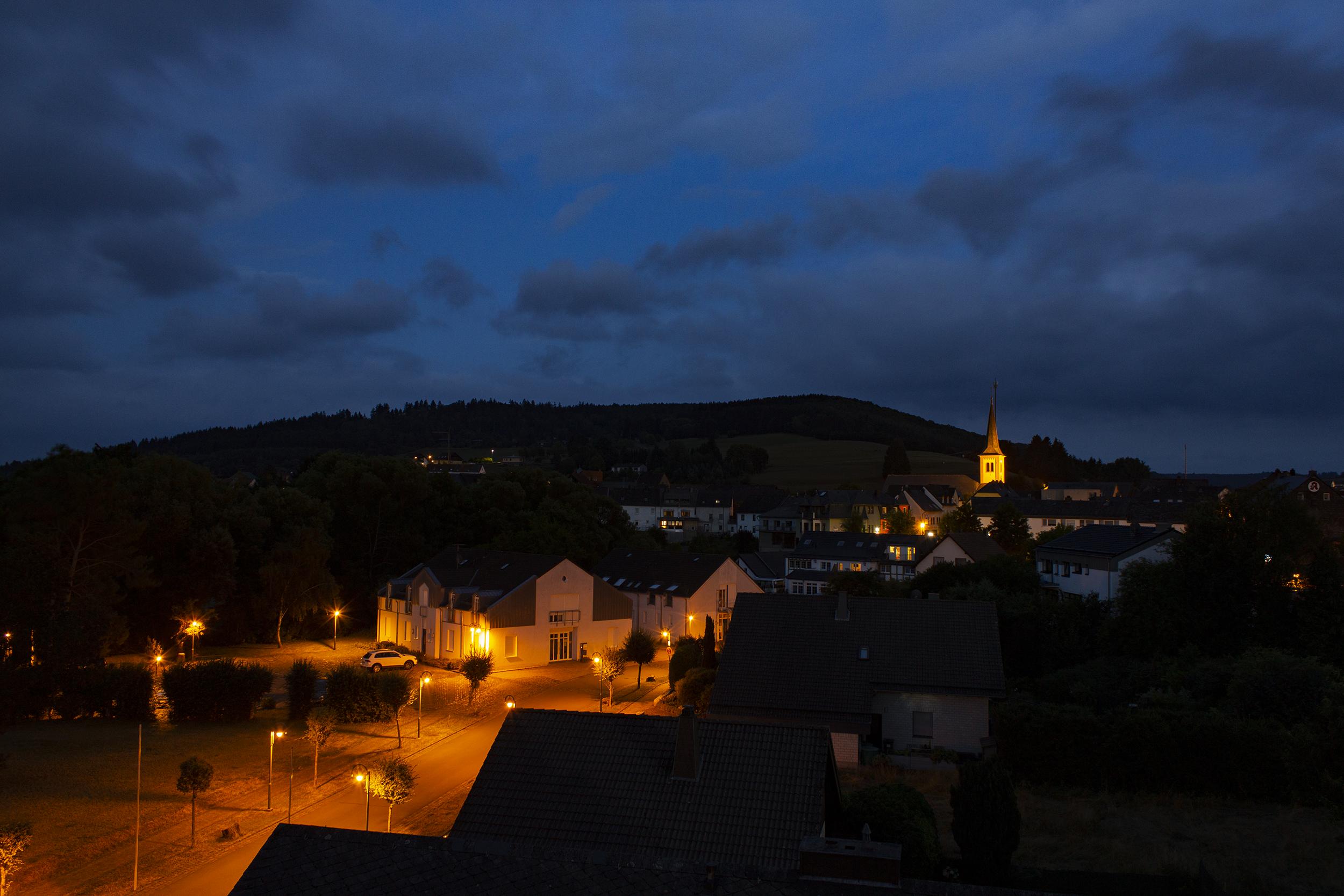 Stadtkyll in 't donker